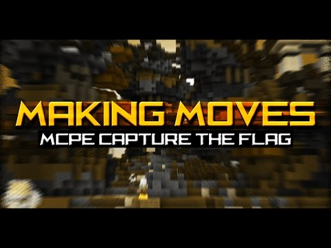 MAKING MOVES!!! (Minecraft PE Capture The Flag!)