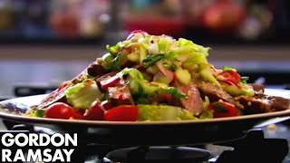 How to Cook Steak and Spicy Beef Salad Recipe - Gordon Ramsay