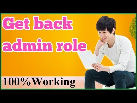 How to get back admin role of myfacebook Page in hindi