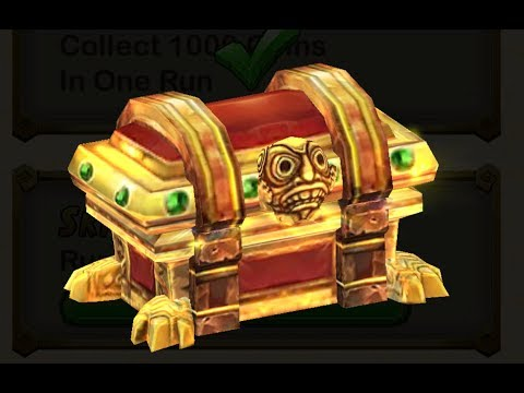 Temple Run 2 use key to open Treasure chests