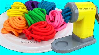Learn Colors Play Doh Pasta Spaghetti Making Machine Toy Appliance Ice Cream Surprise Toys For Kids