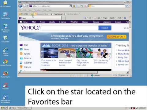 How to add a site to the favorites bar in Internet Explorer