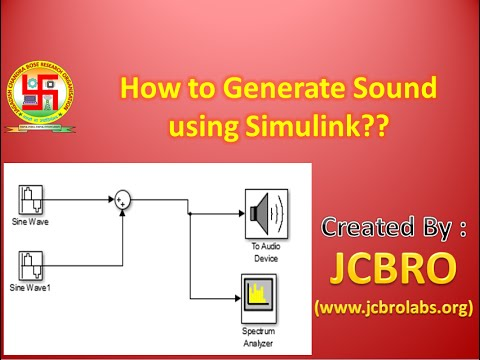 How to generate sound using simulink??
