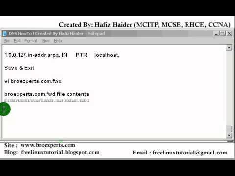 Linux DNS Server (Bind) Configuration ( Hafiz Haider )