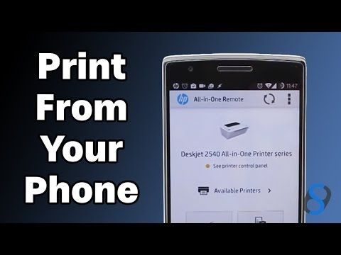 How To Print or Scan To A HP Printer From Your Phone