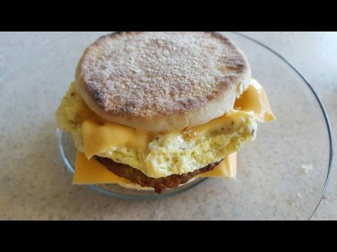 McDonald's style Egg Cheese & Bacon Mcmuffin DIY breakfast egg cooker