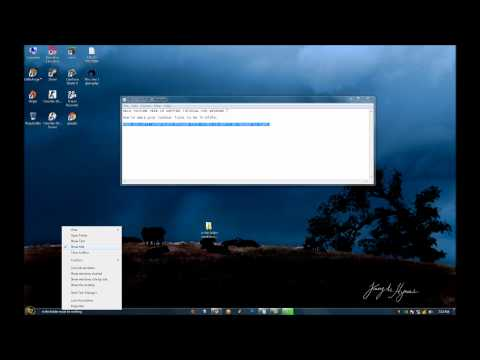 Windows 7 Taskbar icons in midle