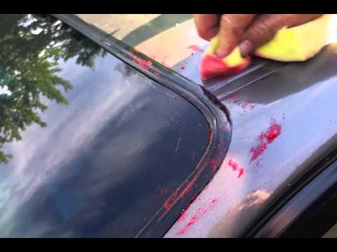 Stuck-OFF - Removing Tuck Tape residue from moulding, paint and glass