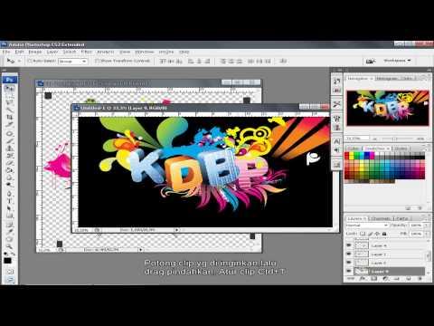 tutorial photoshop cs3 bahasa indonesia membuat Text 3d