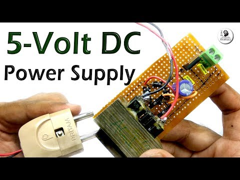 How to make 5 volt DC power supply from AC using 7805 regulator