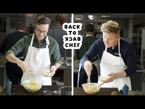 Gordon Ramsay Challenges Amateur Cook to Keep Up with Him   Back-to-Back Chef   Bon Appetit