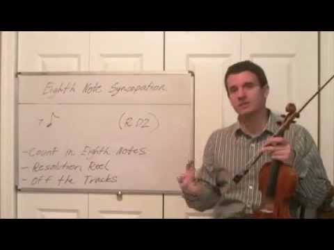 Learn How To Play Eighth Note Syncopation - Intro to Violin Rhythm and Technique