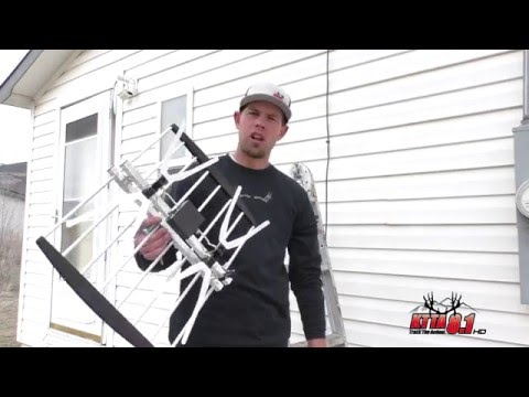 Installing an outside UHF over the air HDTV Antenna