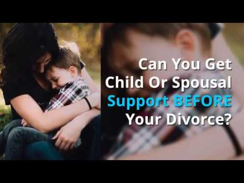 Can you get child support or spousal support before your divorce?