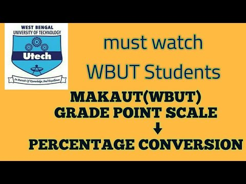 Grade point to percentage conversion [MAKAUT ]||CGPA to percentage conversion