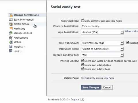 Set Welcome Tab as Default for Facebook Fan Page