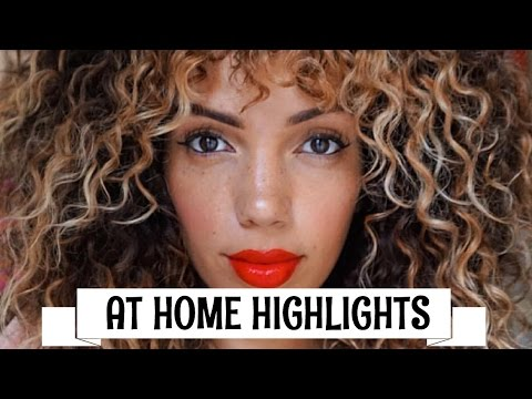 HOW TO HIGHLIGHT/OMBRE CURLY HAIR AT HOME DIY ( REVLON FROST & GLOW )