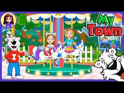 My Town: Icee Amusement Park App Gameplay Silly Review with Millie & Me Kids Toys