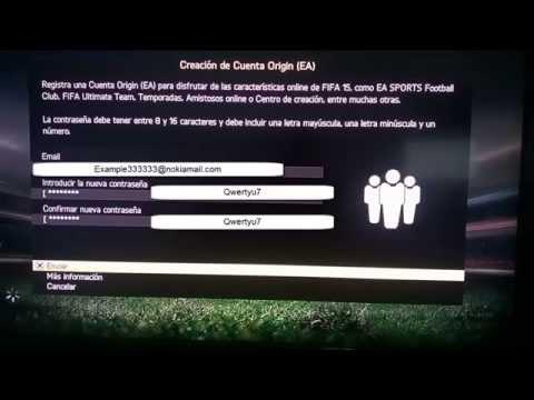 CREAR CUENTAS FIFA 15