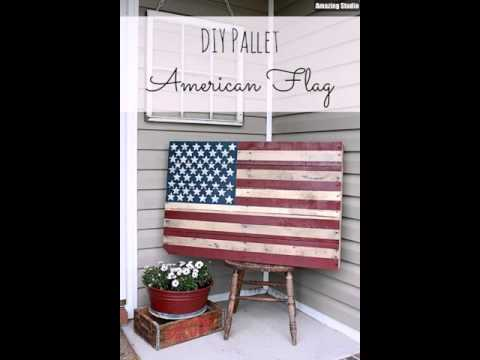 American Flag DIY Painted Pallet