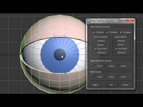 Creating & Controlling Simple Eyes in 3ds Max: 2 - Creating Eye Controls