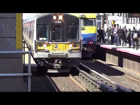 LIRR: More Train Action at Mineola Station [M7, DE/DM30AC, C3]
