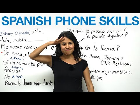 Phone conversations in Spanish