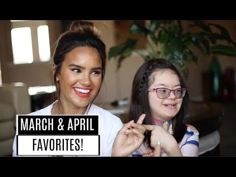 MARCH & APRIL BEAUTY FAVORITES! MEET MY LITTLE SISTER! | DACEY CASH