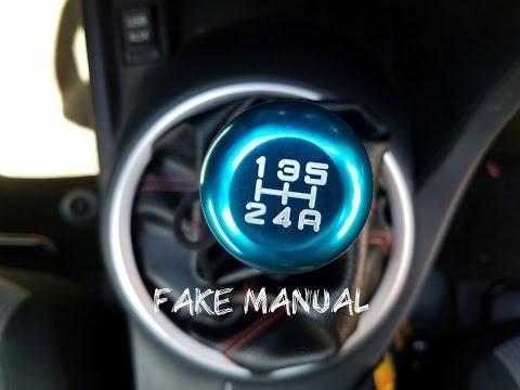 Fake Manual Shift Boot Install
