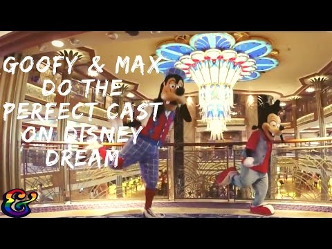 Goofy and Max do the Perfect Cast on Disney Dream!