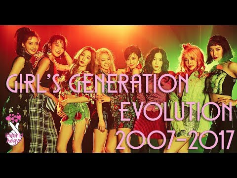 Girl's Generation Evolution 2010-2017 | (MV) Music Video Clips Compilation (Korean Version)
