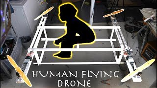Download DIY HUMAN FLYING DRONE! (Part 1)