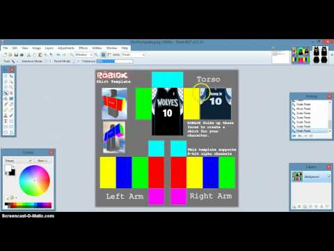 Roblox How to make An Basketball Jersey