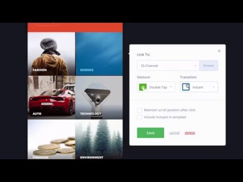How to create an interactive prototype with InVision