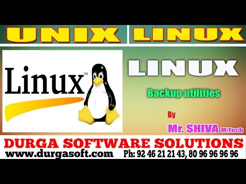 Linux/ Unix Tutorial ||  Backup utilities by Shiva