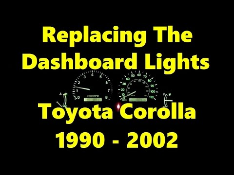 How To Replace Dashboard Light Bulbs On Toyota Corolla 1990 - 2002 #toyotacorolla
