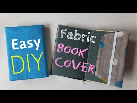 **DIY**How to make Fabric Book Cover.** Easy Tutorial.**