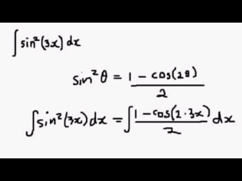 Integral of sin^2(x) using the Half Angle Formula