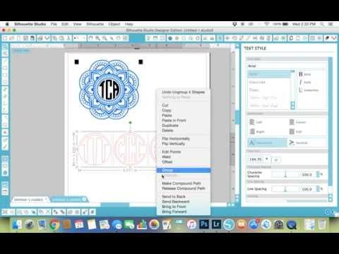 Make a Circle Monogram in the Silhouette Studio