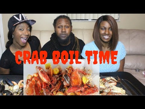 Seafood Crab Boil|Mukbang|We have CONCH FRITTERS|FRIED CONCH