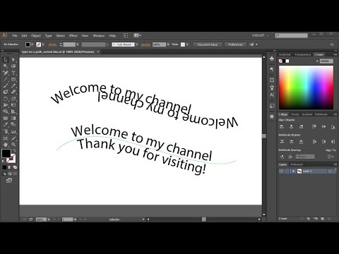 How to Create Text on a Curved Line in Adobe Illustrator