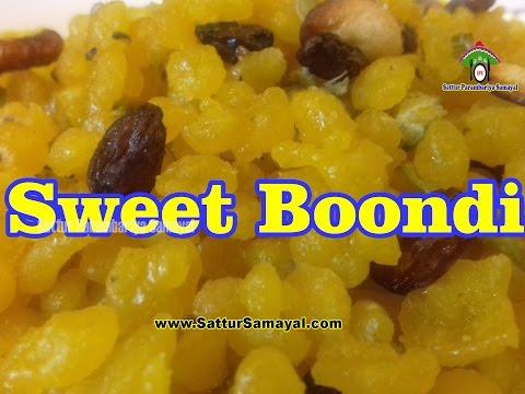 Sweet Boondi | பூந்தி | Tamil | -  Sattur Parambariya Samayal