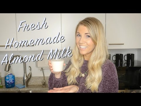 How to Make Your OWN Homemade Almond Milk!