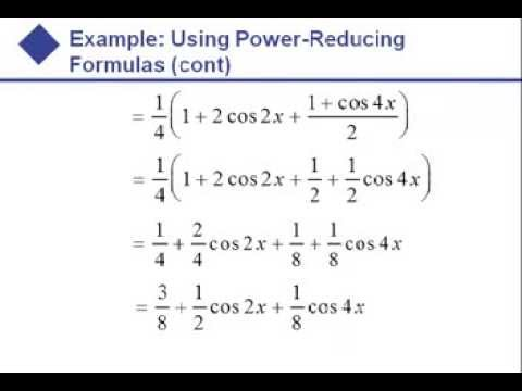 Algebra - Double Angle and Half Angle Formulas
