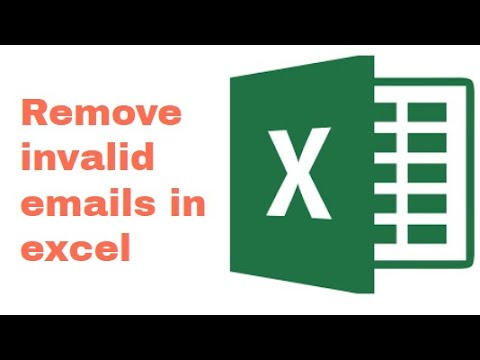 How to remove invalid emails in excel?