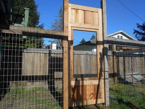 DIY Chicken Run Gate Build