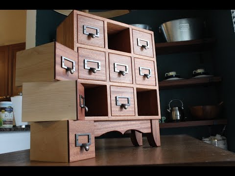 How to Make an Apothecary Chest of Drawers
