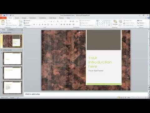 How to change the slide backgrounds in PowerPoint