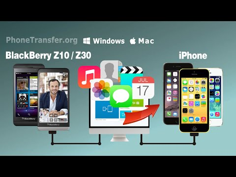 How to Switch All Data from BlackBerry Z10 to iPhone 6, BlackBerry Z30 to iPhone 6 Plus/5S/SE ?