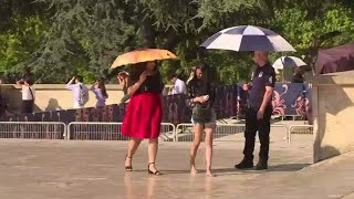 Download France on hot weather alert as heatwave reaches Europe Video